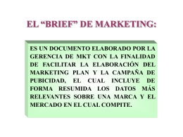 "EL ""BRIEF"" DE MARKETING"