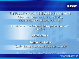 Seminario Costa Rica - Ministerio de Hacienda