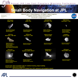 Small Body Navigation at JPL - California Institute of Technology