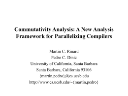 A New Analysis Framework for Parallelizing Compilers