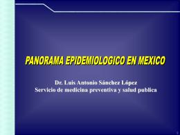 Panorama Epidemiológico en México