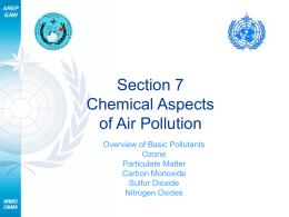 Chemical Aspects of Air Pollution