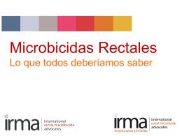 Microbicidas Rectales y Vaginales.