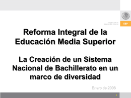 Creación SNB - Subsecretaría de Educación Media Superior
