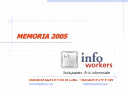 memoria 2005 pai - Infoworkers.com.ar