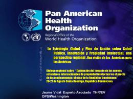 CD48.R15 Salud Pública, Innovación y Propiedad Intelectual
