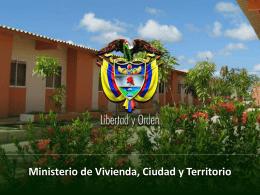 Ministerio de Vivienda, Ciudad y Territorio