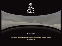 Estudio de Impacto Económico Rally Dakar 2010