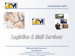 Marketing directo - DBM. DBM Logistics & Mail Services
