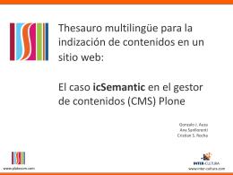 Thesauro multilingüe para la indización de contenidos en un sitio