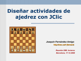Diseñar actividades de ajedrez con JClic