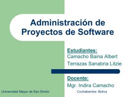 Administración de Proyectos de Software - Informatica
