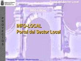 Servicio de Calidad y Modernización Portal del Sector Local INFO