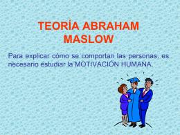 TEORÍAS DE LA MOTIVACION