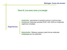 Biología. Curso de acceso