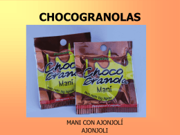 CHOCOGRANOLAS