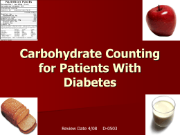 Carbohydrate Counting for pediatric patients with type