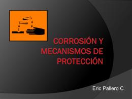 Corrosion y mecanismos de proteccion