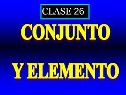 Clase 26: Conjunto y elemento