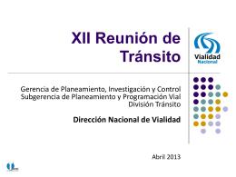 Diapositiva 1 - SeLIT - Dirección Nacional de Vialidad