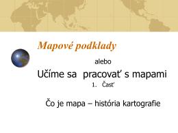 Mapové podklady