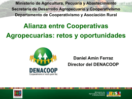 AÇÕES DO MAPA - Alianza Cooperativa Internacional en las