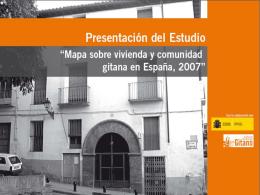 estudio – mapa sobre vivienda y comunidad gitana en españa 2007