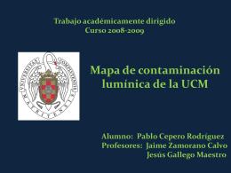 Mapa de contaminación lumínica de la UCM