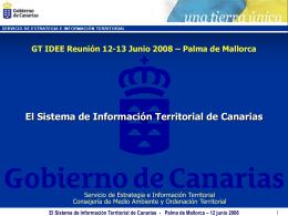 La Información Territorial en Canarias