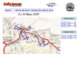 Mapa Rally Avosur Lanco 2015