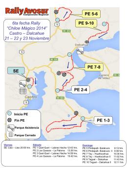 Mapa Rally Chiloé Mágico 2014 - Inicio | Diario Digital Puerto Montt