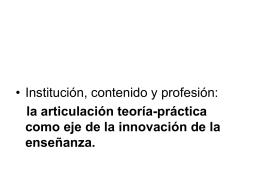 La articulación teoría-práctica como eje de la innovación en la
