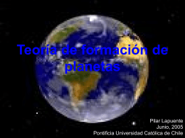 Teoría de formación de planetas - Pontificia Universidad Católica de
