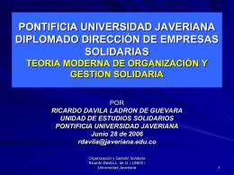 TEORIA MODERNA DE ORGANIZACIÓN Y GESTION
