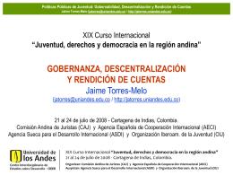 Jaime Torres-Melo - Comisión Andina de Juristas