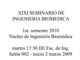 Seminario IB 2008 - Núcleo de Ingeniería Biomédica