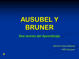 AUSUBEL Y BRUNER