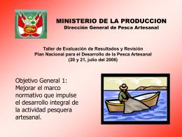 xposición Resultados DGPA - Ministerio de la Producción