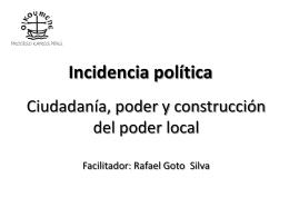 Ciudadanía e Incidencia Política