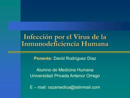 Infección por el Virus de la Inmunodeficiencia Humana