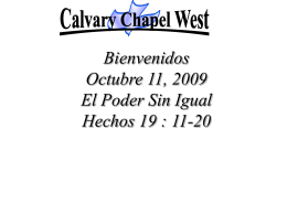 Acts 19:13-16 (NASB) - Calvary Chapel West