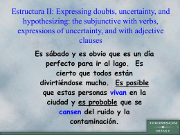 subjunctive duda