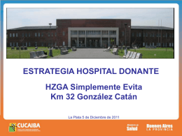 Estrategia Hospital Donantes, HZGA Simplemente Evita