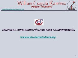 Diapositiva 1 - Centro de Contadores Públicos para la Investigación