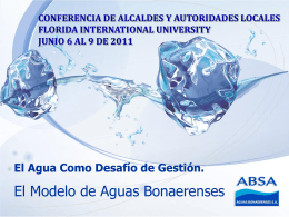 CONFERENCIA DE ALCALDES Y - Florida International University