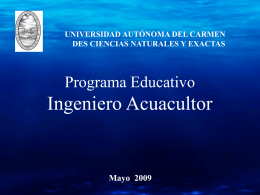 PLAN-Ingeniero Acuacultor UNACAR