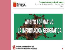 Oferta formativa en información Geográfica