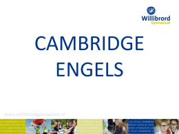 Cambridge English - St. Willibrord Gymnasium