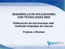 U3 – Lenguajes de Marcado Web – Frames