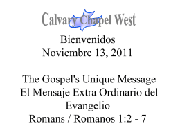 Romans 1:5-7 - Calvary Chapel West